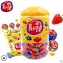 真知棒108支桶裝水果棒棒糖兒童糖果禮盒裝零食散裝喜糖整箱批發