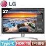 瘋狂下殺賣完為止LG 27型 4K IPS液晶螢幕 27UK850-W