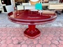 香榭二手家具*紅木實木4.5尺 圓形餐桌(附玻璃)-原木桌-飯桌-餐廳桌-團圓桌-火鍋桌-會議桌-簽約桌-泡茶桌-休閒桌