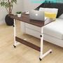 【限時優惠t】多功能簡易書桌筆記本電腦桌家用簡約床邊移動升降桌帶輪子小桌子
