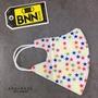 BNNxMASK 立體V精緻印刷四層防塵拋棄式口罩 50入 成人尺寸
