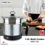 Mistral 1.2L Multi Cooker I MNC128 I SUS 304 Stainless Steel I 1 Year Warranty