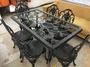 【吉林二手貨L0100001】鍛造桌椅、休閒桌椅、戶外桌椅、庭園桌椅、公園搖椅、鐵藝桌椅、鍛造休閒桌椅