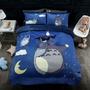 冬季款龍貓床包法萊絨珊瑚絨床包床罩組