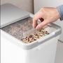 家用密封防蟲裝米桶儲米箱 塑膠防潮米缸15kg廚房加厚大米麵粉桶