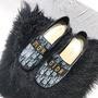 Dior 迪奥CD两穿深口单鞋方跟懶人樂福鞋子