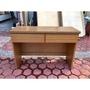 香榭二手家具*橡木色110cm 二抽書桌-美甲桌-寫字桌-電腦桌-辦公桌-櫃台桌-洽談桌-工作桌-會計桌-餐桌-2手貨