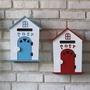 田園木製屋型信箱