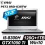 MSI PE72 8RD-038TW (i5-8300H/8G/1TB+128G SSD/GTX1050Ti-4G)