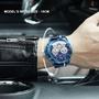 Bear精品 NAVIFORCE 真三眼真皮錶帶石英手錶時尚運動多功能3ATM防水夜光男士手錶NF9168 玫瑰金