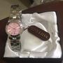 TIVOLINA手錶 不鏽鋼藍寶石 LAW3573PP 粉紅錶面 女錶