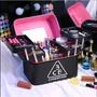 木子家韓國3CE化妝包 大容量手提化妝箱  旅行便攜多層化妝品收納箱