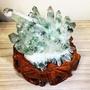 🏅高品項 巴西 綠幽靈晶簇2.0kg 招正財 綠幽 骨幹 晶柱 白水晶柱 白水晶簇 綠晶簇
