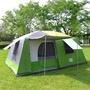 LIFECODE《二房一廳》抗紫外線超大8人帳篷(二門四窗)-綠色