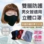 現貨 圍裙家⚡️台灣製快速出貨⚡️布面雙層立體口罩|可水洗 成人 防塵 立體口罩 黑色口罩 防風 男女 防疫 防飛沫
