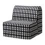 IKEA LYCKSELE LÖVÅS 單人沙發床, ebbarp 黑色/白色