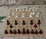 復古立體中華象棋PU皮革棋盤樹脂兵馬俑中華象棋人物棋子親子禮物「七色堇」