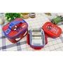 韓國進口兒童餐具  Spider-Man 蜘蛛人 蜘蛛俠 不鏽鋼 樂扣 兩個便當盒 附餐袋