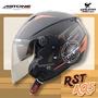 免運 ASTONE安全帽 RST AQ5 消光黑橘 內置墨片 內鏡 內襯可拆 半罩帽 3/4罩 205 耀瑪騎士機車部品