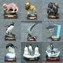 動漫精品※正版IKIMON奇譚俱樂部南極大陸生命紀行企鵝底座非洲動物模型
