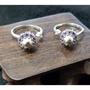天鐵紫鋯石轉運戒指925銀活動戒圍約10mm天鐵約6mm