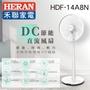 MOMO代購6444908【HERAN 禾聯】日本馬達14吋智慧觸控變頻7葉片DC扇(HDF-14A8N)