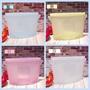 【騎龍矽膠】雙耳矽膠食物袋「雙耳組合4入1150元」 1000ml  冷凍袋 環保袋 無毒 無味 4色繽紛上市