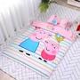 現貨~【彩條佩琪】佩佩豬100%純棉~ 兒童床墊、墊被、枕頭、被子  ~幼兒園必備