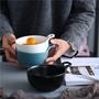 優享INS°餐廚 D  現貨 磨砂陶瓷創意單耳碗北歐簡約飯碗烤碗小湯碗甜品早餐碗   IPN3
