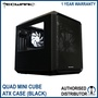 Tecware Quad Mini Cube Chassis Black Micro ATX Case with Side and Top Window