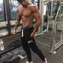 LVFT-肌肉兄弟 健身男士休閒褲 跑步健身運動長褲男排汗透氣小腳褲