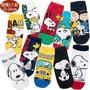 【TDL】卡通襪史努比襪子短襪直版襪隨機5入組22-26cm 35-00001