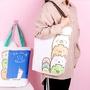 【現貨 滿499免運】可愛角落墻角生物手提袋購物袋帆布包大容量學生環保袋超市購物袋