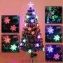 【王哥】1.2m米雪花葉光纖聖誕樹 120cm聖誕光纖樹 雪花飾品 聖誕節日用品 耶誕節禮物 耶誕節裝飾