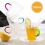 【北歐沐光】彩藝 輕透 隔熱 防燙 雙層玻璃馬克杯 耐熱玻璃杯 200ml(兩件組)