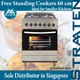 Straaten 60cm Free Standing Cooker ST660A4-6BX 4-Burner Electric Multi-Function Oven Stainless Steel