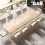 會議桌 新款原木金簡約現代實木會議桌長桌洽談桌椅組合辦公桌 MKS免運
