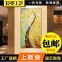 -黃金發財樹玄關畫吉祥寓意風景抽象油畫豎幅走廊過道壁畫臣墨工藝