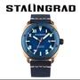 【STALINGRAD 史達林格勒】青銅軍藍色-軍事潛艦風格系列腕錶(青銅軍藍色軍事潛艦腕錶)