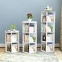 簡約現代360度旋轉書架落地簡易書架學生置物架創意兒童書架收納