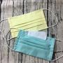 可放濾材棉口罩(黃、Tiffany藍)可放鼻樑片,附濾材一片