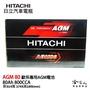 HITACHI 日立 AGM 80 Ah BMW BENZ VOLVO AUDI 專用汽車電池 免運 電瓶 哈家人