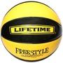 黃黑LIFETIME花式籃球{漆皮籃球}街頭籃球-非TACHIKARA亮皮球-非NIKE