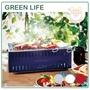 【日本製】日本 GREEN LIFE 輕量 桌上型 烤爐 烤肉爐 薄型 攜帶 便利 露營 戶外 烤肉 燒烤 附燒網 四色