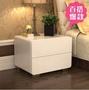 玻璃面床頭櫃簡約現代時尚白色鋼琴烤漆三鬥床邊櫃特價簡易儲物櫃