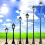 歐式復古庭院燈小區別墅花園草地燈防銹路燈桿戶外防水景觀燈
