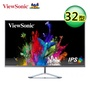 ViewSonic 優派 32型 IPS 無邊框寬螢幕 (VX3276-2K-MHD)【加贈全家咖啡兌換序號】