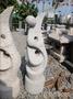 【園藝家景觀資材網】石雕類 人物抽象*抽象石雕 雙人花式*意象派花崗石白花崗黃銹石雕刻庭園造景擺飾花園庭院雕塑品
