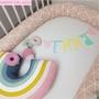 【推薦】INS兒童房印花嬰兒床床圍安全防撞護欄床靠安撫長條抱枕塞床縫枕