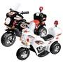皇家警察兒童電動摩托車/電動機車 白色/黑色